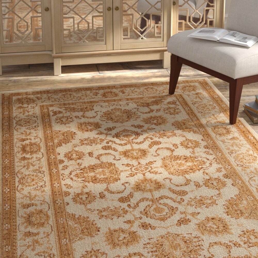 Gold And Cream Rug Rugs Ideas