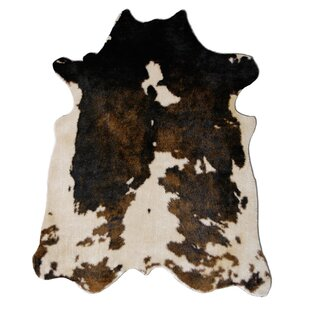 Binx Faux Cowhide Beige/Brown Area Rug