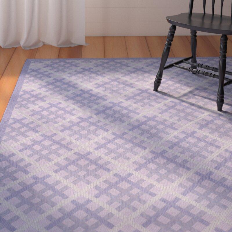 August Grove Laurel Purple Indoor/Outdoor Rug, Size: Rectangle 8 x 11