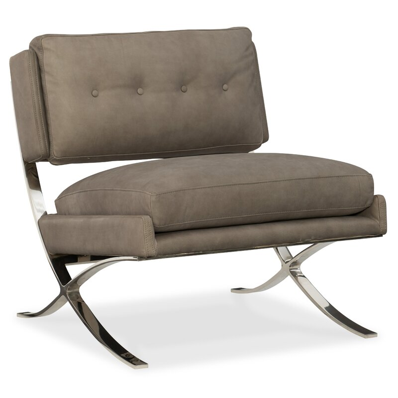 Cherie Metal Frame Slipper Chair