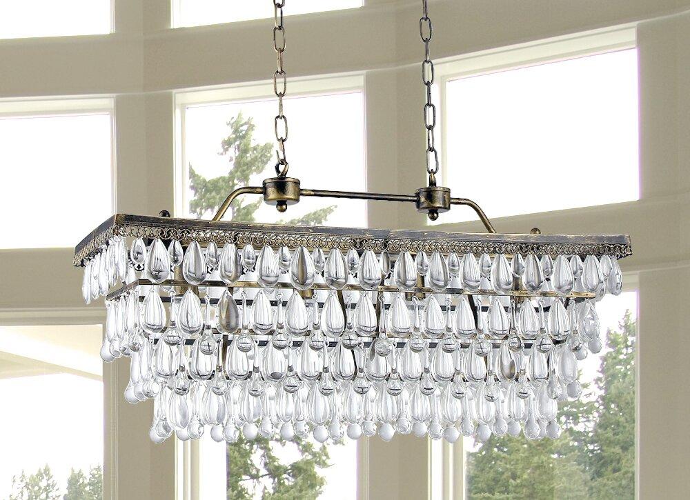 Bayonville 4 light crystal chandelier