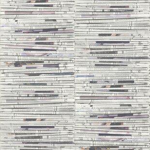 Newspaper Stacks Contemporary 33 X 208 Wallpaper Roll