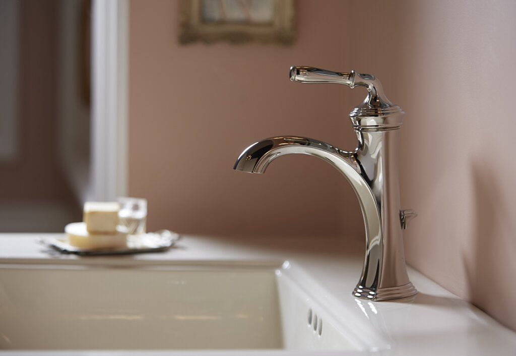 Bathroom Sink Faucet Single Handle kohler devonshire single handle bathroom sink faucet & reviews