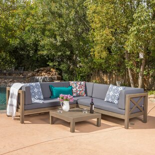 Wood Sectional Patio Furniture.Wood Patio Furniture You Ll Love In 2019 Wayfair Ca