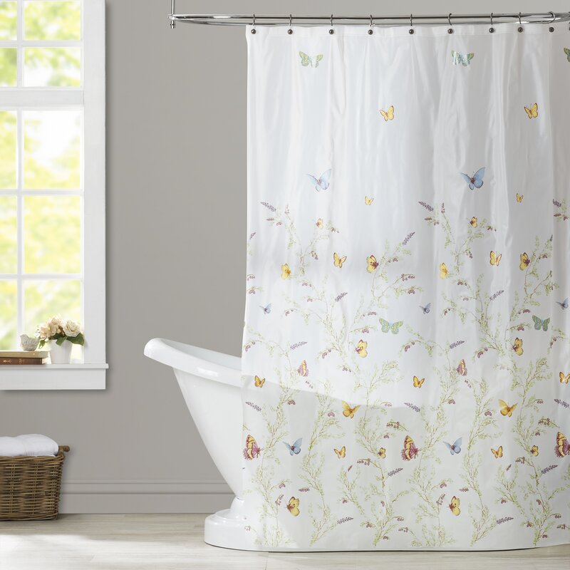 August Grove Rohde Garden Flight PEVA Single Shower Curtain Reviews