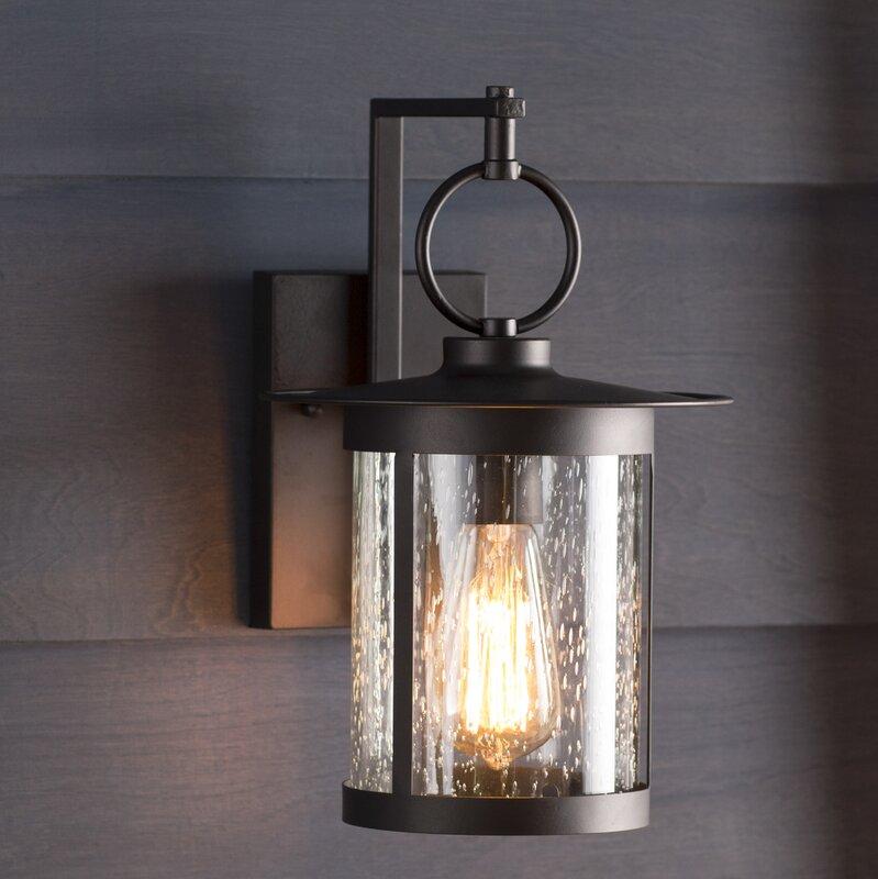 Gracie Oaks Lavardens 1-Light Outdoor Wall Lantern