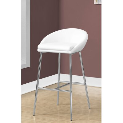 Faux Leather White Counter Height Bar Stools You Ll Love
