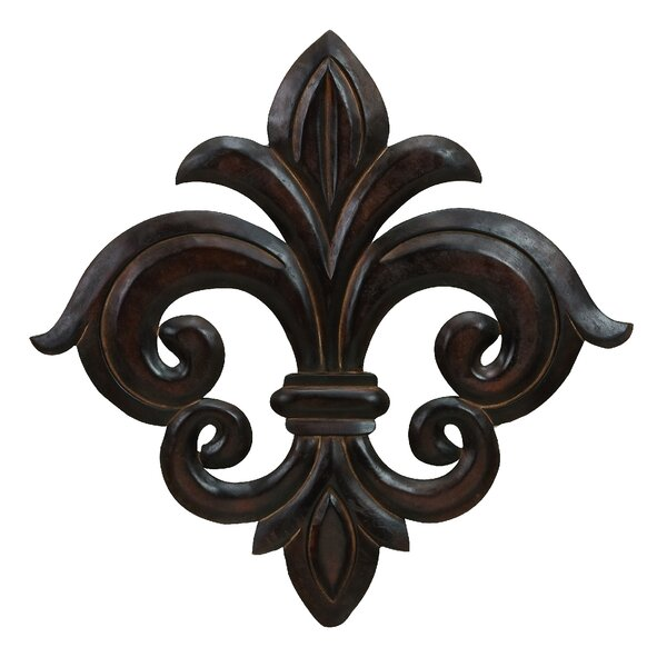 Fleur De Lis Wall Decor cole & grey wood fleur-de-lis wall decor & reviews | wayfair