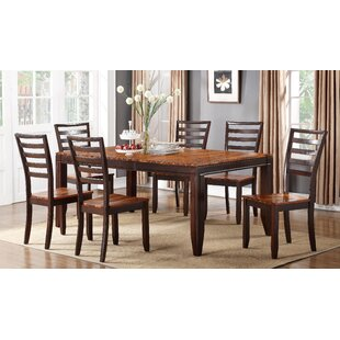 Lannon Contemporary Drop Leaf Solid Wood Dining Table