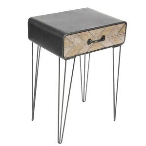 Dalrymple Metal/Wood End Table by Ivy Bronx
