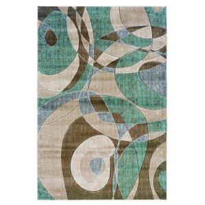 Carina Brown/Turquoise Area Rug