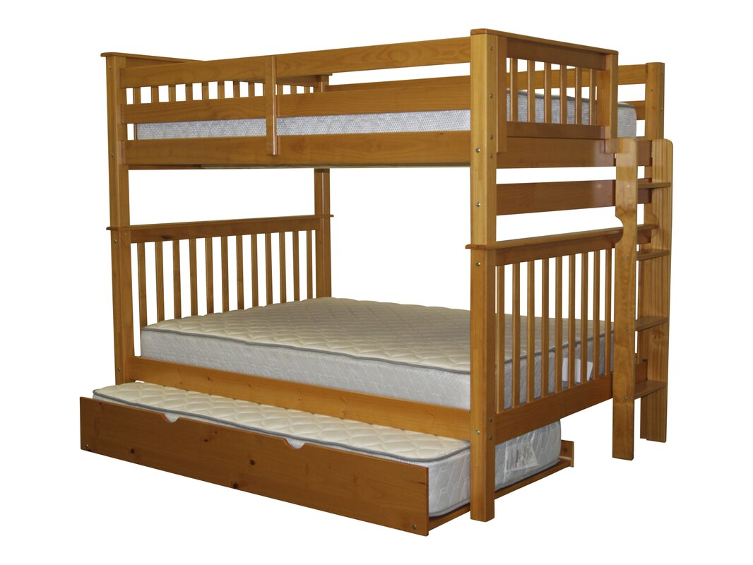 Bedz King Mission Full over Full Bunk Bed with Trundle Reviews