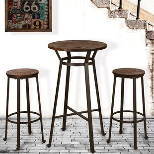 Luther Rustic 3 Pieces Pub Table Set