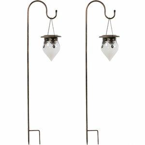 Starkville Rain Drop Solar Light Outdoor Hanging Lantern (Set of 2)
