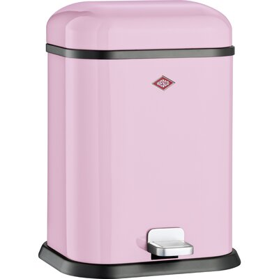 Wesco Singleboy 3.4 Gallon Step On Bathroom Trash Can Color: Pink