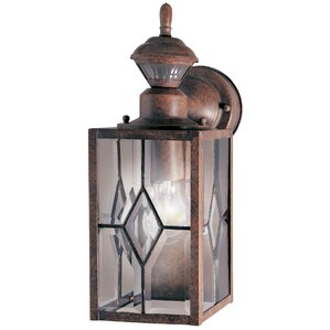 Motion Activated 1 Light Outdoor Wall Lantern