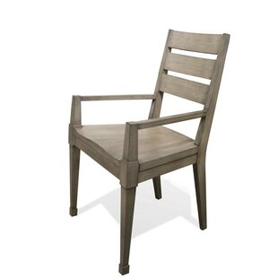 Vogue Solid Wood Dining Arm Chair (Set of 2)