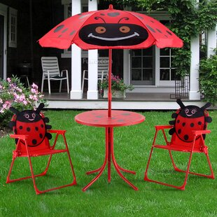 Eben Kids 3 Piece Picnic Table And Chair Set
