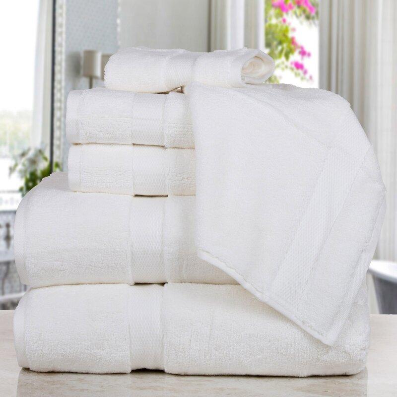 Affinity Linens Madhvi Premium Quality Luxury 6 Piece Cotton Towel Set