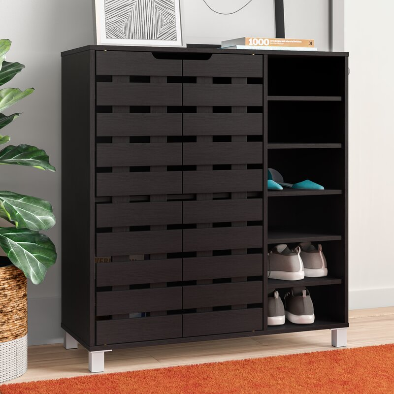 Zipcode Design 24 Pair Shoe Storage Cabinet & Reviews ...