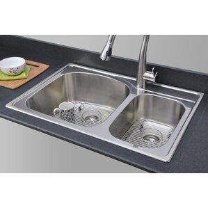 Chicago Series 33 X 22 70 30 Topmount Kitchen Sink