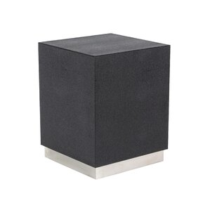 Butner Modern Wood and Stainless Steel Square End Table by Ivy Bronx