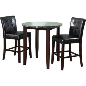Horologium 3 Piece Counter Height Dining ..