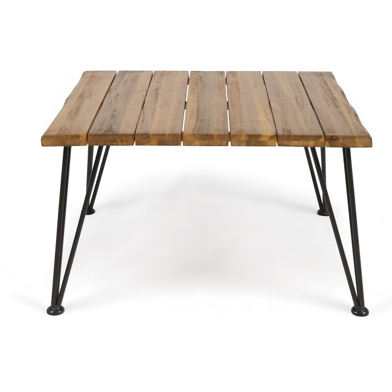 Merveilleux Hansell Outdoor Industrial Wooden Coffee Table