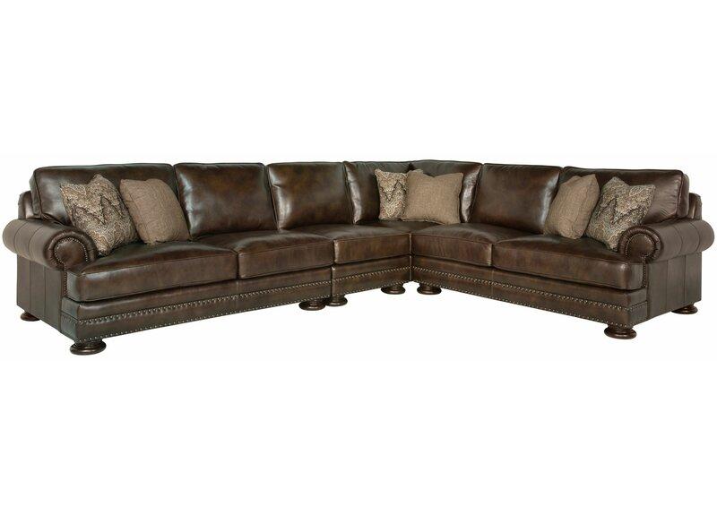 Bernhardt Foster Leather Modular Sectional Perigold