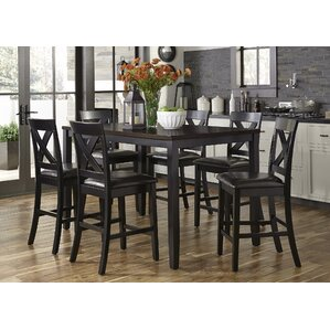 Nadine Rectangular 7 Piece Breakfast Nook Dining Set by Darby Home Co