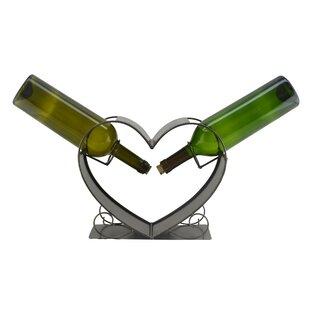 Heart 2 Bottle Tabletop Wine Rack