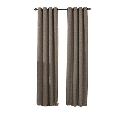 Beautyrest Arlette Solid Blackout Single Curtain Panel Color: Dark Mushroom, Size per Panel: 52 W x 95 L