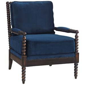Areyanna Upholstered Fabric Arm Chair by Dar..