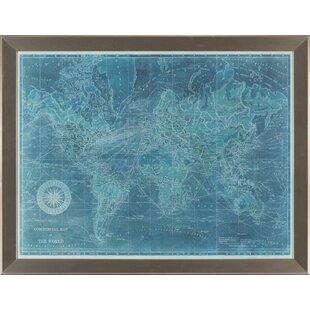 Azure World Map | Wayfair