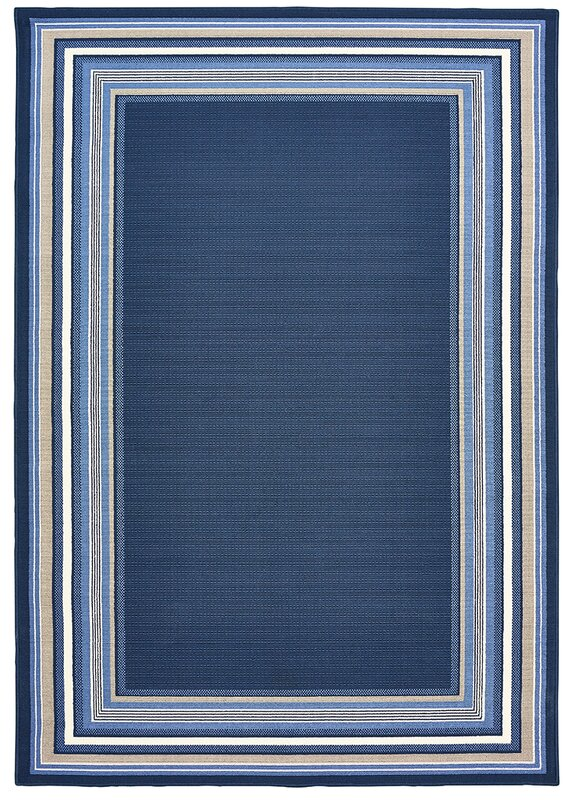 Hadiya Navy Blue Indoor Outdoor Area Rug Amp Reviews Birch