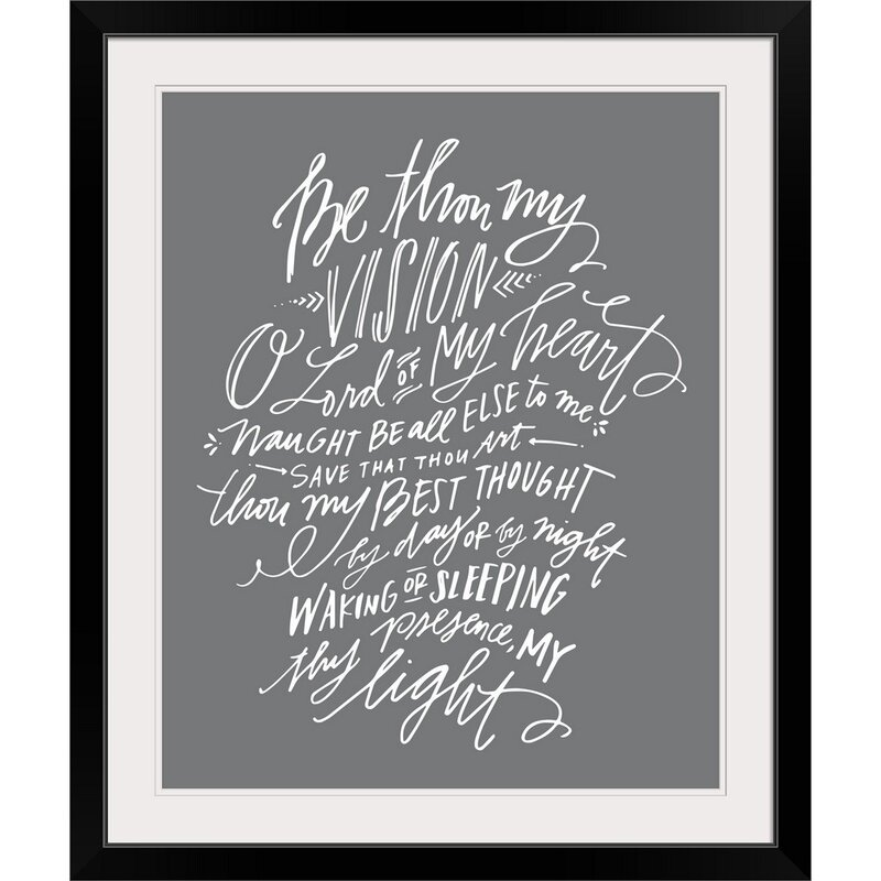 Giclee 'Be Thou My Vision' Textual Art Print