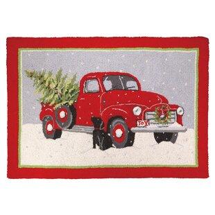 christmas truck hook area rug