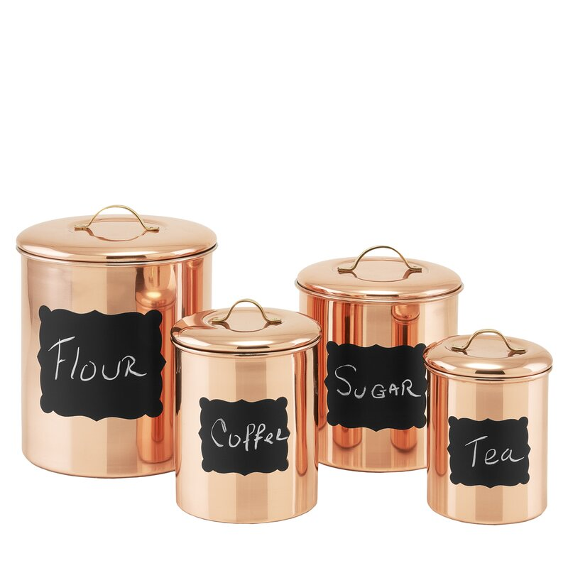 4 Piece Coffee Tea Sugar Set