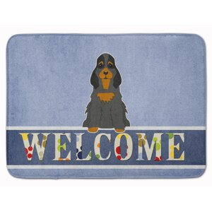 Cocker Spaniel Tan Welcome Memory Foam Bath Rug