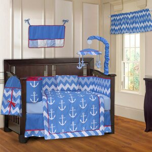 Anchor Zigzag 10 Piece Crib Bedding Set
