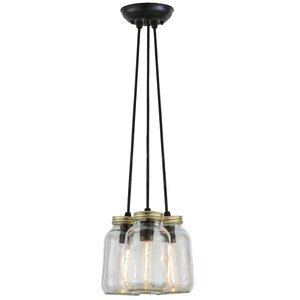 Mason Jar 3-Light Cluster Pendant
