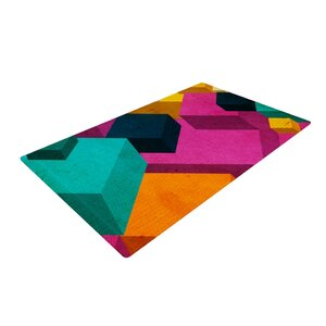 Danny Ivan Happy Cubes Pink/Orange Area Rug