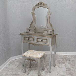 Carncoagh Dressing Table Set With Mirror