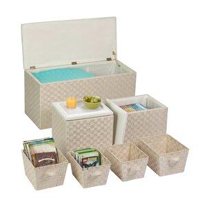 7-Piece Storage Basket Set Ottoman by ..