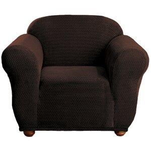 Stretch Diamond Box Cushion Armchair Slipcover