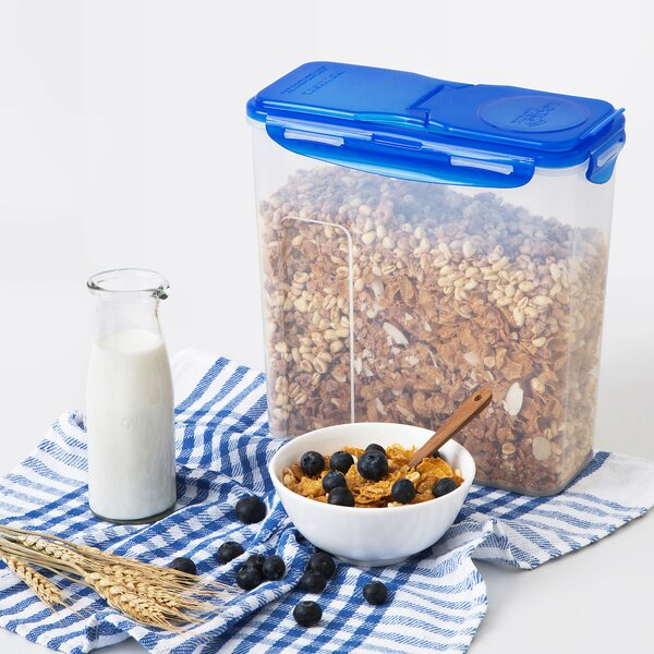 Easy Essentials Pantry Cereal Storage Container with Flip Lid, 16-Cup