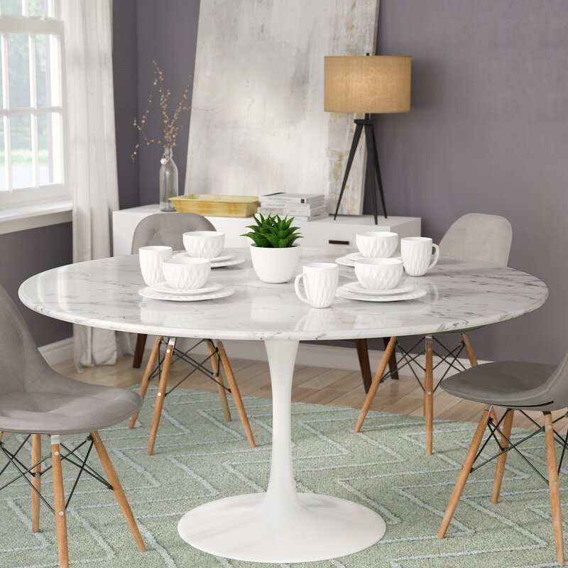 Langley Street Julien Artificial Marble Round Dining Table