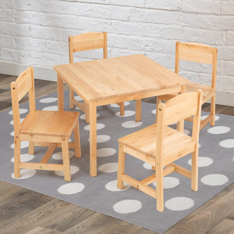 Farmhouse Kids 5 Piece Square Table and Chair Set & KidKraft Farmhouse Kids 5 Piece Square Table and Chair Set \u0026 Reviews ...