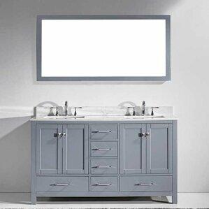 Double Vanity Bathroom Vanity double vanities you'll love | wayfair