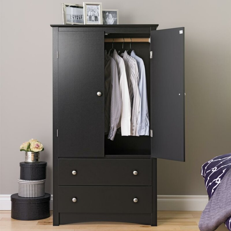 Wanda 2 Door Armoire & Latitude Run Wanda 2 Door Armoire \u0026 Reviews | Wayfair Pezcame.Com